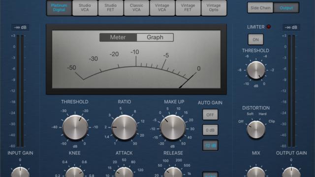 Logic Pro X コンプレッサー