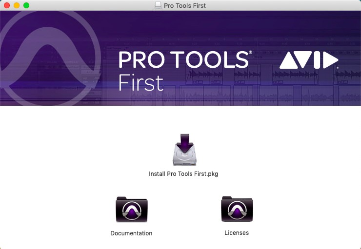 Pro Tools First 2019のインストール