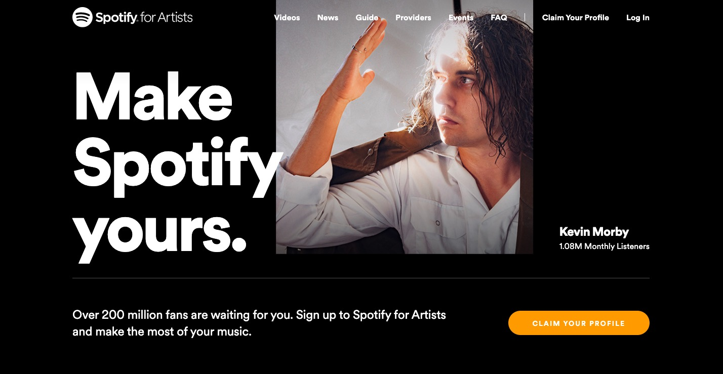 CLAIM YOUR PROFILE - Spotify for Artists