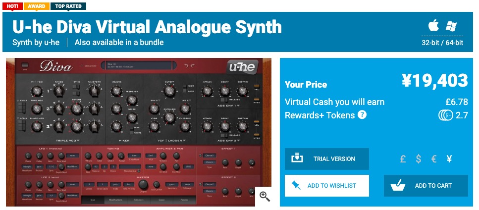 U-he Diva - Plugin Boutique